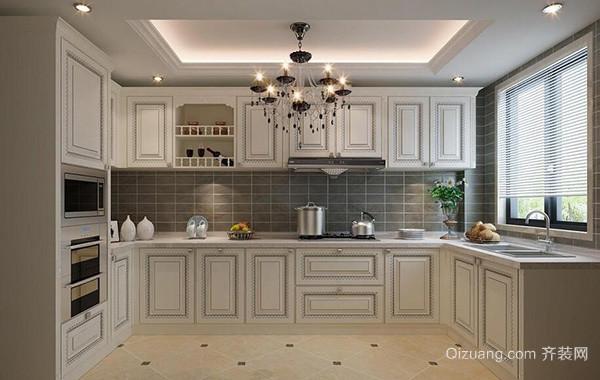 别墅型时尚的现代欧式厨房橱柜效果图欣赏