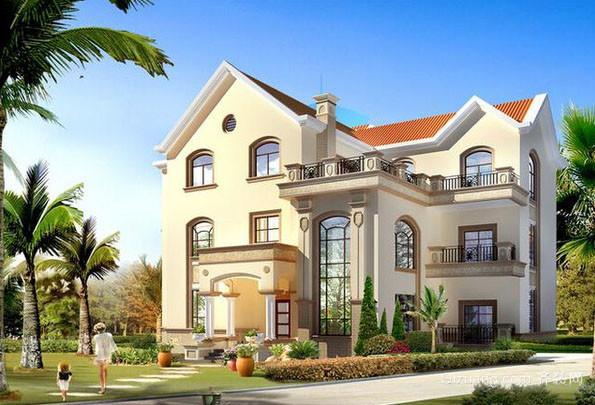 新中式风格农村自建别墅整体设计装修效果图