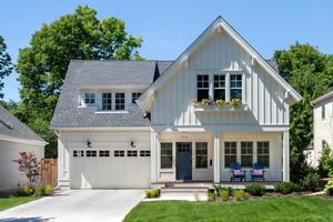 美式风格精致两层别墅整体设计装修效果图