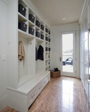 北欧风格简约时尚创意大户型进门玄关装修效果图