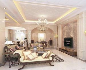 时尚大户型欧式风格客厅吊顶设计装修效果图