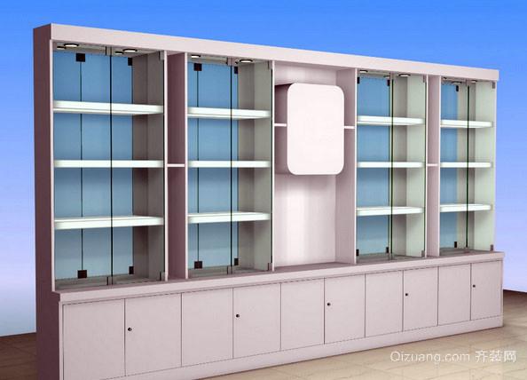 现代简约风格商店玻璃展示柜装修效果图
