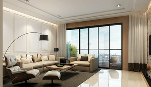 后现代风格简约时尚小户型客厅装修效果图