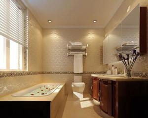 现代简约风格大户型卫生间毛巾架装修效果图