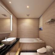 110平米现代简约风格浅色调卫生间装修效果图