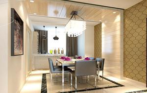 2016别墅型精致欧式餐厅背景墙装修效果图
