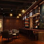 现代简约风格酒吧装修效果图