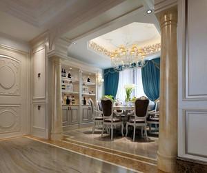 90平米别墅欧式餐厅背景墙设计装修效果图