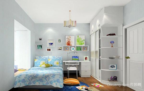 85平米现代简约风格女生卧室装修效果图案例