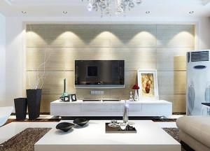 三居室欧式客厅电视背景墙装修效果图鉴赏