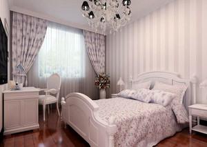 90平米别墅型欧式卧室窗帘装修效果图欣赏