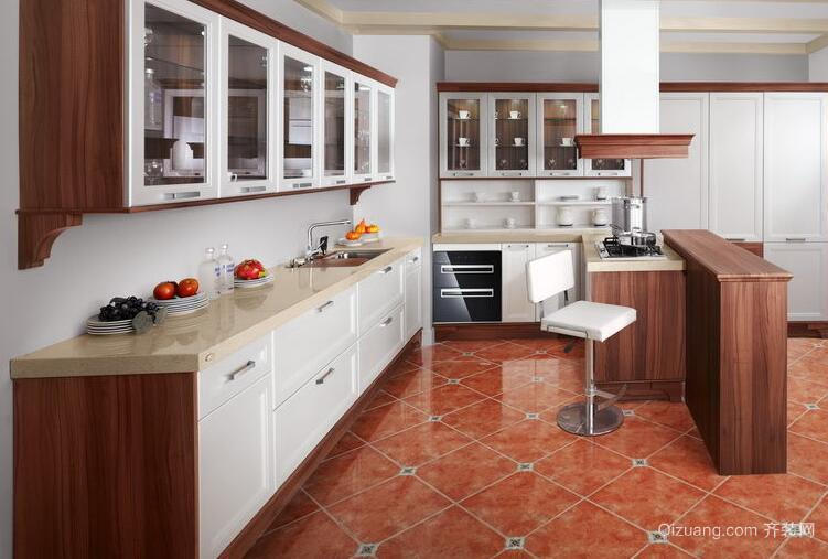 欧式精致的大户型欧派厨房橱柜效果图欣赏