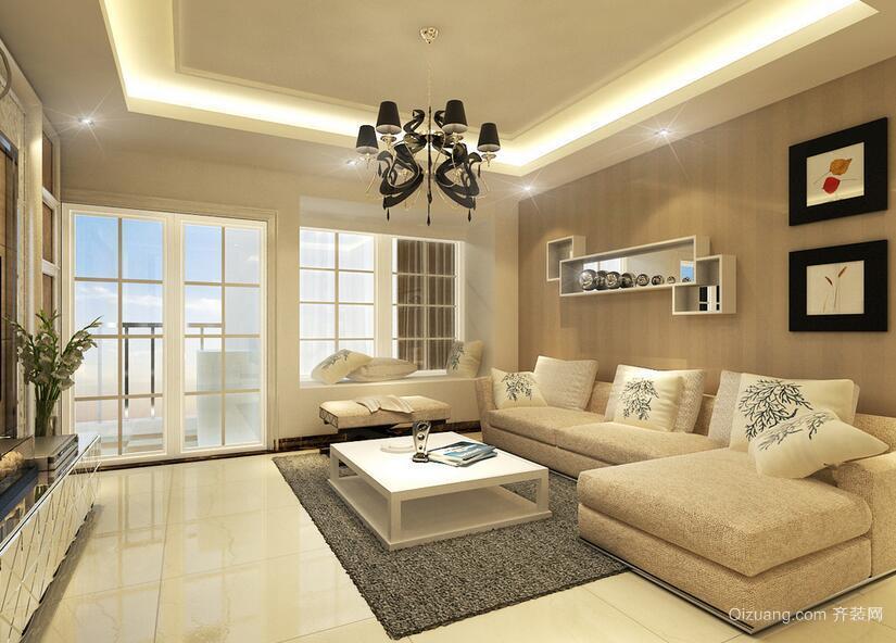 2016精致的欧式小户型客厅室内设计装修效果图