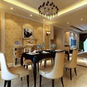 2016大户型现代风格餐厅室内装修效果图鉴赏