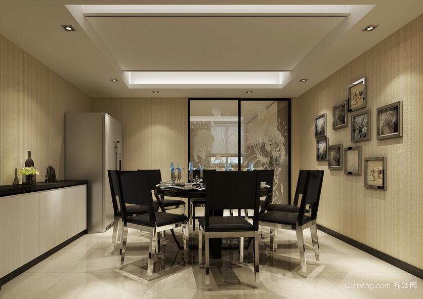 别墅型现代欧式餐厅吊顶装修效果图鉴赏