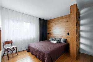 100平米现代简约风格深色时尚公寓装修效果图赏析
