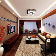 客厅精致电视背景墙装修