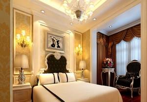 精致的大户型欧式卧室墙纸装修设计效果图