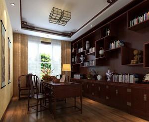 经典新中式风格大户型精致室内书房装修效果图赏析