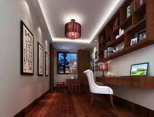 新中式风格别墅型精致典雅书房装修效果图