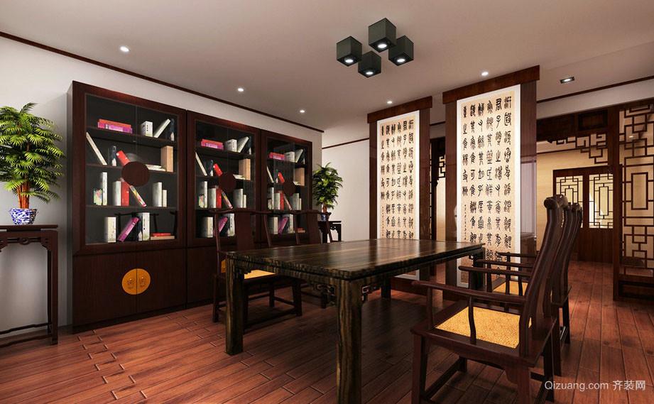 2016年全新款新中式风格精致书房装修效果图