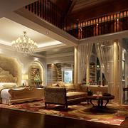 大户型美式样板房卧室室内设计装修效果图