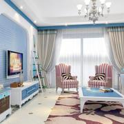 大户型地中海风格客厅装修效果图实例