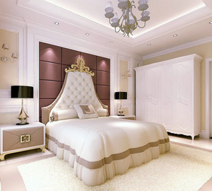 欧式风格精致时尚温馨大户型卧室装修效果图