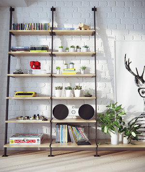80平米现代简约时尚创意公寓装修效果图赏析