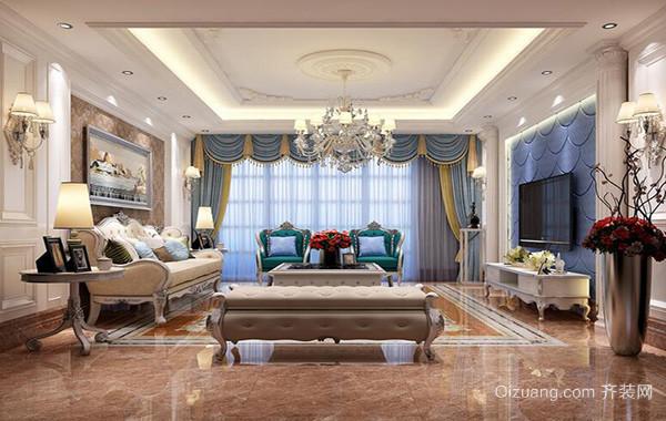 大户型欧式风格客厅室内设计装修效果图鉴赏
