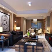 温馨舒适客厅效果图
