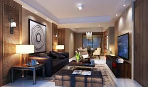 简约风格时尚创意两室两厅客厅装修效果图赏析