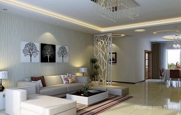 2016年现代简约风格精致时尚两室两厅客厅装修效果图