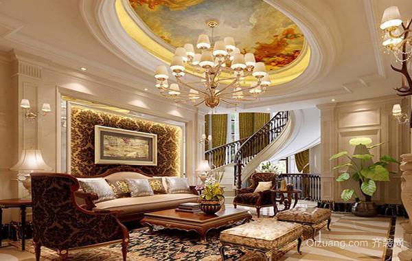 2016别墅客厅室内窗帘设计装修效果图鉴赏