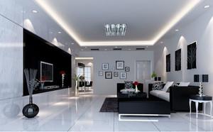 现代简约时尚创意两室两厅客厅装修效果图