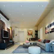 大户型时尚温馨简约室内客厅电视背景墙装修效果图