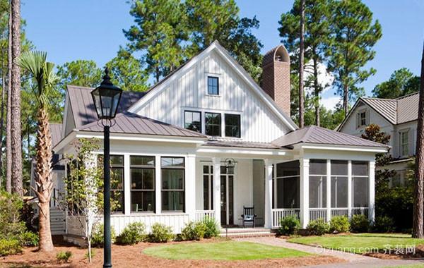 美式乡村风格自建两层别墅装修效果图大全