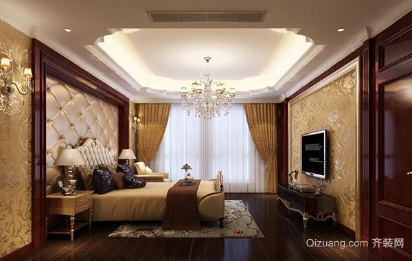 欧式风格大户型卧室吊顶装修效果图鉴赏