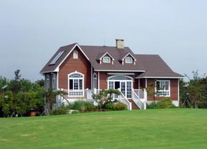 美式风格经典自建别墅整体设计装修效果图