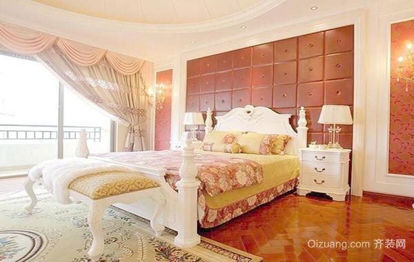欧式小户型现代卧室室内窗帘装修效果图