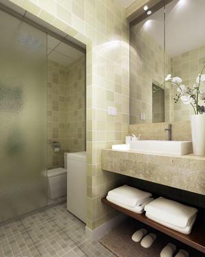 现代简约风格时尚大户型卫生间毛巾架装修效果图