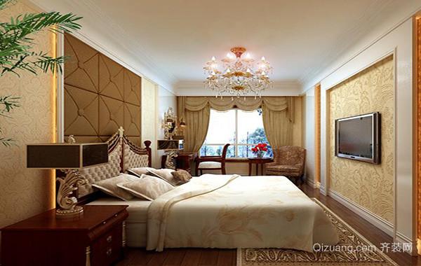 别墅欧式卧室室内背景墙设计装修效果图鉴赏