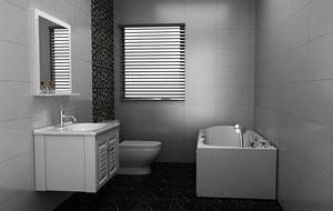 现代极简主义风格别墅型大卫生间装修效果图