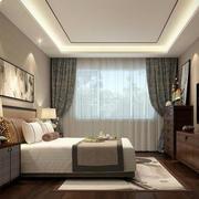 新中式风格卧室窗帘设计