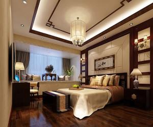新中式风格精致大户型室内卧室装修效果图