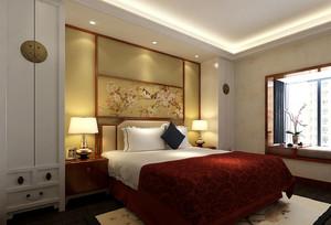 新中式风格时尚精致大户型室内卧室装修效果图实例
