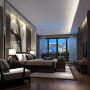 新中式风格卧室效果图