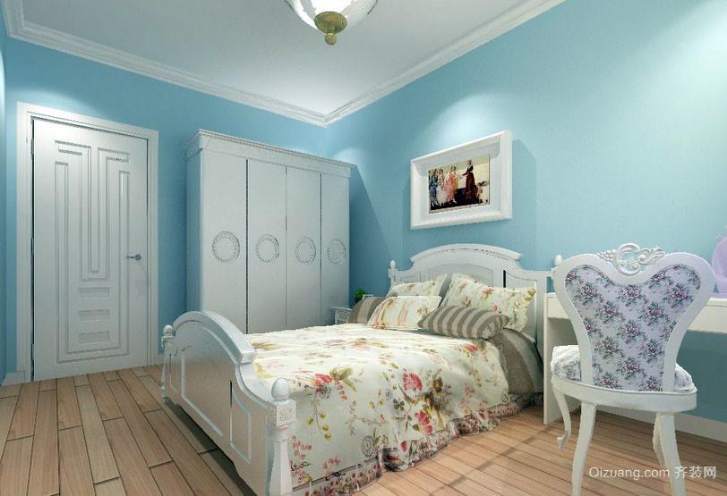 三居室欧式田园风格室内卧室装修效果图鉴赏