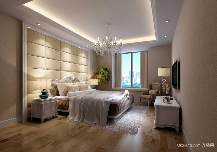 大户型简欧风格简约时尚精致室内卧室装修效果图