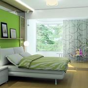 绿色风格卧室效果图